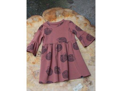 Koňakové šaty s volánem Šimido 6-8Y