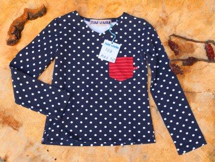 tričko puntík s kapsou CUNA VLNAMI vel.128