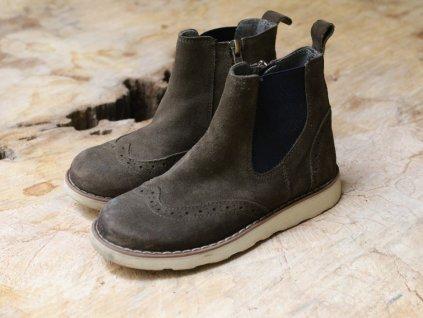 kotníčkové boty Baťa kožené 31