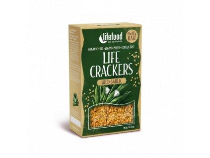 Life Crackers WILD GARLIC s medvedim cesnekem krekry bio raw lifefood 400 400