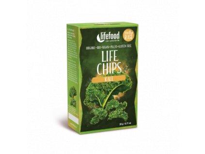 Life chips kale BIO RAW VEGAN chipsy nesmazene z kaderavku lifefood 400 400