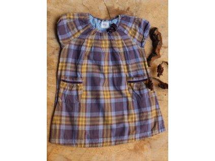 fialové šaty káro Mini Boden 4-5Y