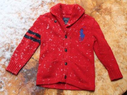 červený svetr Ralph Lauren 4Y