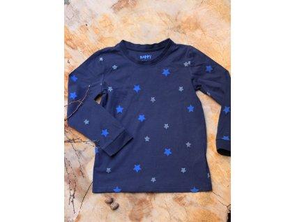 tričko s dlouhým rukávem s hvězdami Tchibo 110-116Y