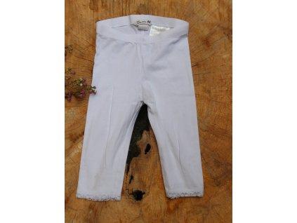 legíny H&M bílé s krajkou organická bavlna 98