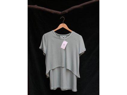 Těhotenské a kojící tričko - barva zelená mint