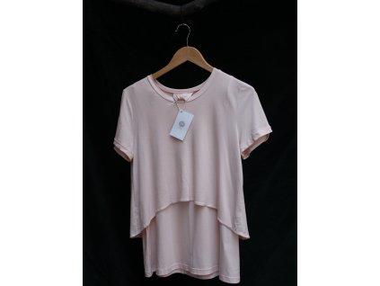 Těhotenské a kojící tričko - barva pudrově růžová