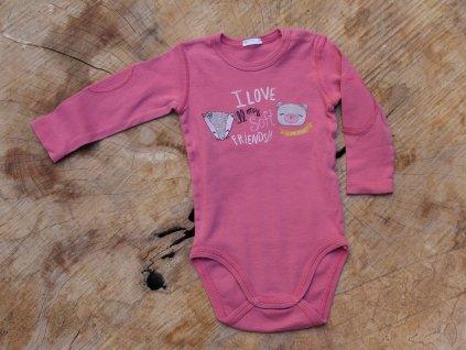 tmavě růžové body Benetton Baby 68