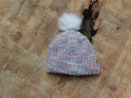 barevná čepice zateplená fleecem 54