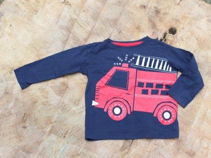 modré tričko s hasičským autem Urban 12-18M