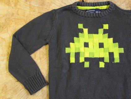 tmavě šedý Minecraft svetřík Reserved 98