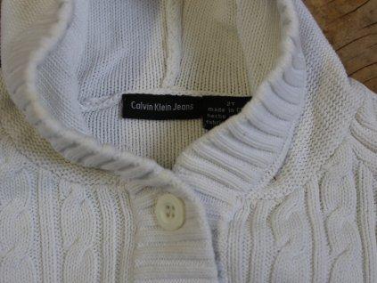 smetanový propínací svetřík s kapucí Calvin Klein 92