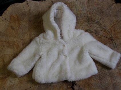 bílý plyšový kabátek Cherokee 12-18M