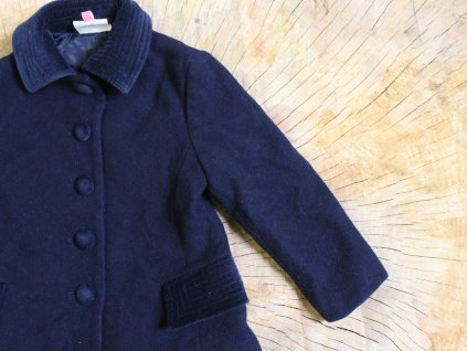 vlněný tmavě modrý kabátek John Lewis 2Y