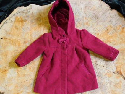 malinový kabátek s mašlí Matalan 12-18M