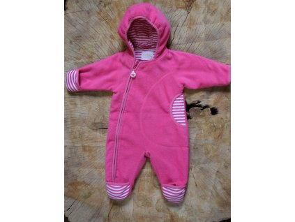 růžová fleece kombinéza Lindex Baby 62