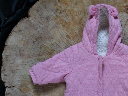 růžová prošívaná kombinéza Next Baby 3-6M
