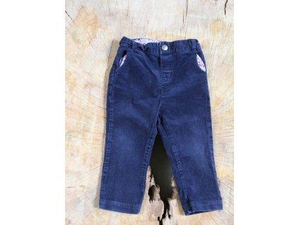 tmavě modré manšestrové kalhoty Jojo Maman Bébé 12-18M