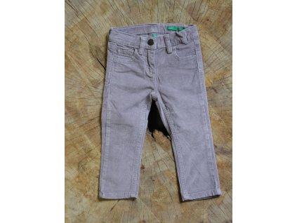 šedo-hnědé manšestrové kalhoty Benetton 12-18M