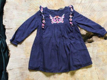 tmavě modré boho šaty z viskozy George 86