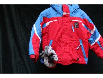 červeno-modrá bunda s kapucí Spider 110