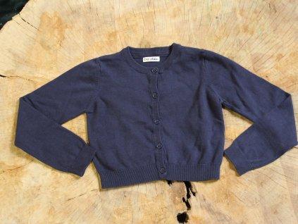 modrý propínací svetr Top Class 7-8Y