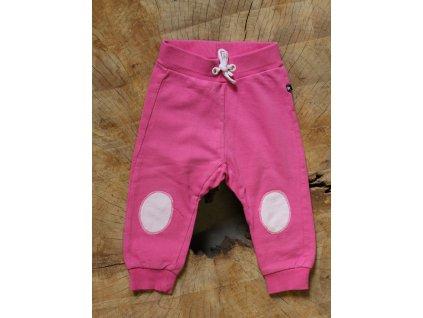 růžové tepláky se záplatami Lindex Baby 68