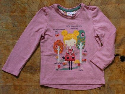 růžové triko holčička Mini Club 92