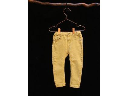 okrové elastické kalhoty ZARA 92