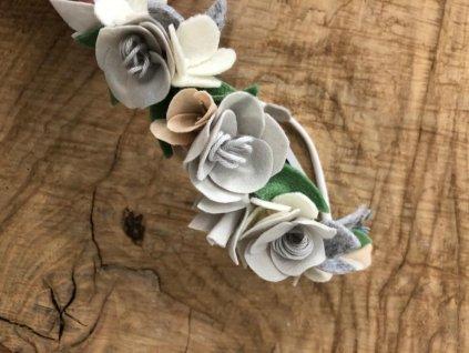 Květinová čelenka Lumpka bílá