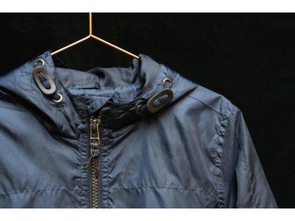 modrá šusťáková bunda s kapucí M&S 7-8Y