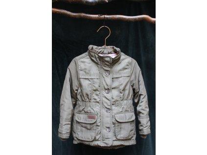 khaki přechodová bundička H&M 3-4Y