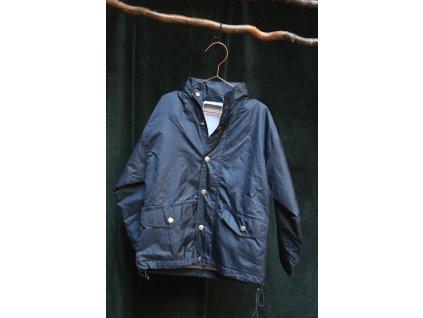 modrá šusťáková bunda se skrytou kapucí Blue Max 7-8Y
