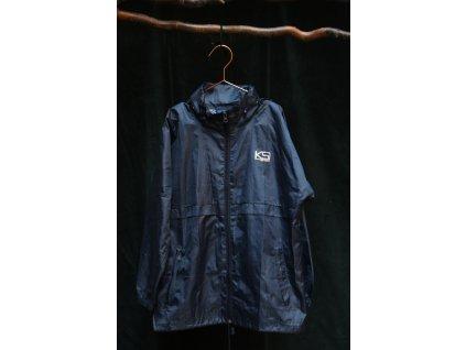 tmavě modrá šusťáková bunda se skrytou kapucí KS 140