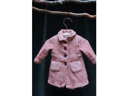 malinový kabátek Zara 80