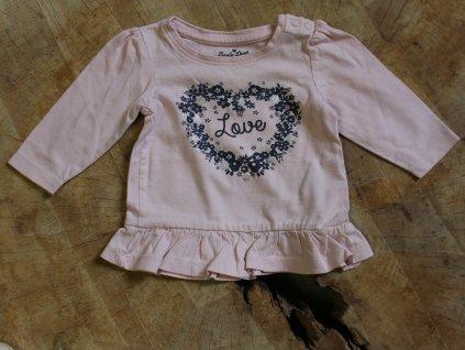 světle růžové tričko Love Early days 62