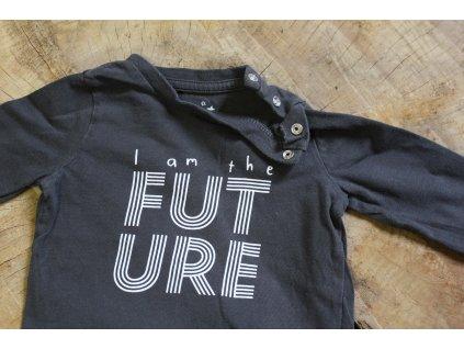 šedé tričko Future s dl.rukávem F&F 0-3M