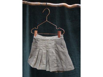 khaki sukně s podílem vlny Zara 4Y