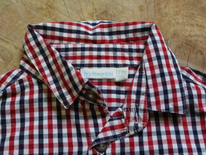 košile modro-červené káro Jojo Maman Bébé 12-18M
