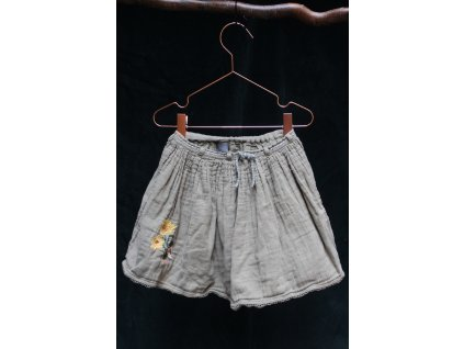mušelínová khaki sukně s vyšivkou Next 4Y