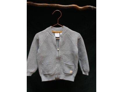 šedý zapínací svetr Zara baby 98