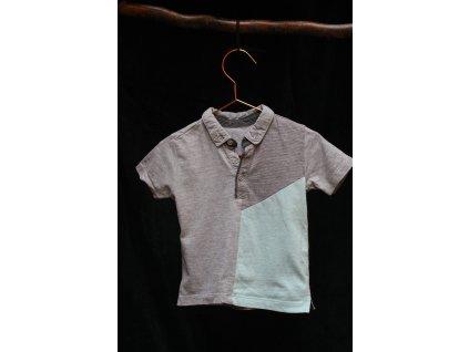 šedé polo tričko s kr.rukávem Matalan 86