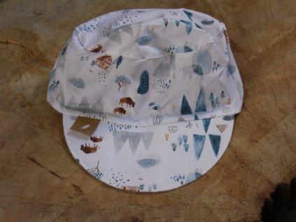 kšiltovka z bavlny Indian summer modro-bílá 50-52
