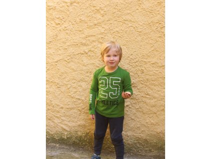 zelené tričko s dl.rukávem athletic Reserved 6-7Y