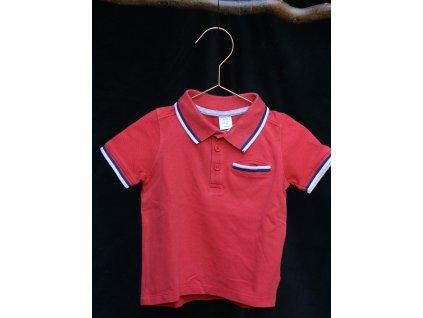 červené polo tričko s kr.rukávem Mini Club 1-2Y