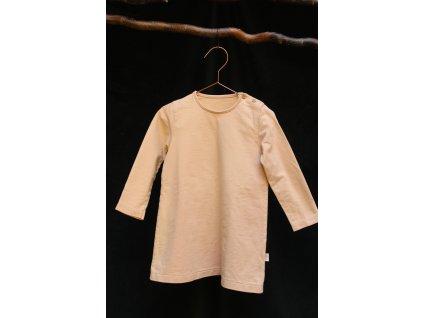 meruňkové šaty z biobavlny Poudre organic 4Y