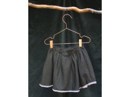 černá sukně s třpytkami H&M 5-6Y
