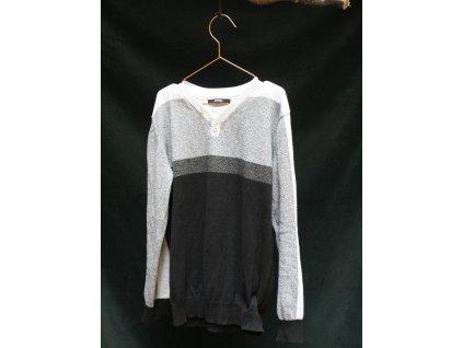 šedo-černý svetr George 10-11Y