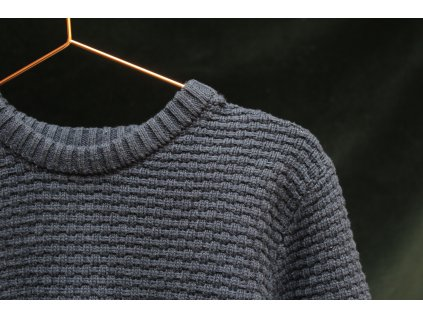 modrý bavlněný svetr Bluezoo 6-7Y