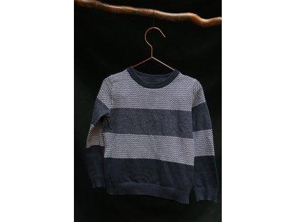 modro-bílý svetr F&F 4-5Y